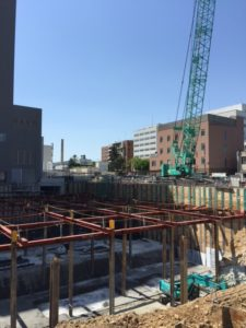 大手大学病院新病棟建設工事に伴うとび・土木・コンクリート工事